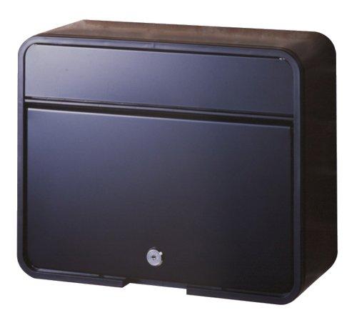 グリーンライフ(GREEN LIFE) 郵便ポスト スチールポスト カムロック錠 A4封筒が入る マットブラック 15.0×30.0×37.5cm FH-58P(MBK)
