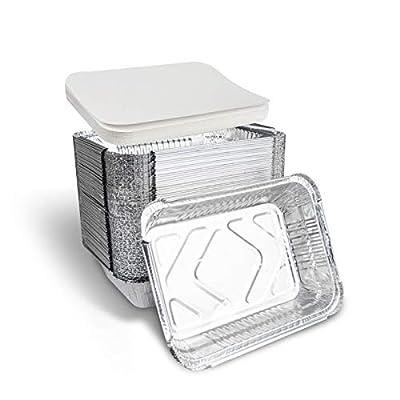 Amazon - Save 15%: Disposable Takeout Aluminum Foil Pans with Lid Baking Pans Tin Food…