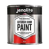 JENOLITE Garage & Exterior Door Paint - Red - 1 Litre