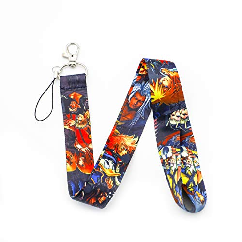 Kingdom Hearts Lanyard Keychain ID Badge Holders