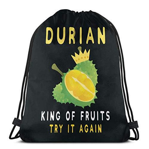 Durian King Of Fruit - Mochila de gimnasio con cordón para hombre y mujer, 36 x 43 cm