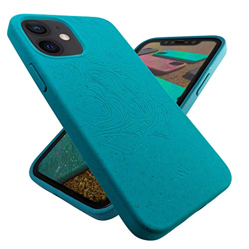Biodegradable and Compostable Eco Phone Case Compatible with iPhone 12 Mini, Loam & Lore - Plant Based and Sustainable Protective Zero Waste Plastic Free Vegan Phone Cover