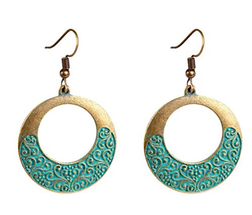 TUANTUAN1 Pairs Vintage Drop Dangle Earrings Bohemian Earrings Vintage Dangle Earrings Geometric Dangle Pendant Earrings Boho Jewelry for Women Girls,style8