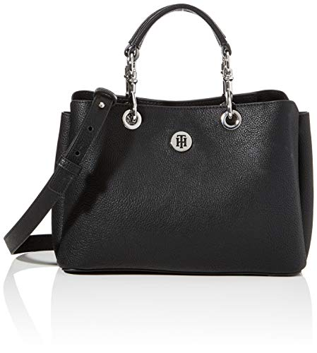 Tommy Hilfiger Damen TH CORE MED SATCHEL, Schwarz, OS