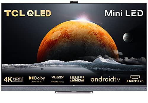 TCL QLED 55C825 - Televisor 55 Pulgadas, Mini-LED, 4K Ultra HD, Smart TV con Android TV, Barra de Sonido Onkyo, Motion Clarity PRO, Game Master PRO, Google Assistant Integrado, Compatible con Alexa