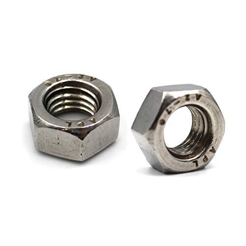 25 Stück Sechskantmutter DIN 934/ISO 4032, Standard, Edelstahl A2 V2A, Schraubenmutter, Edelstahlmutter, Sechskant-Mutter, V2A Mutter (M6, 25 Stück)