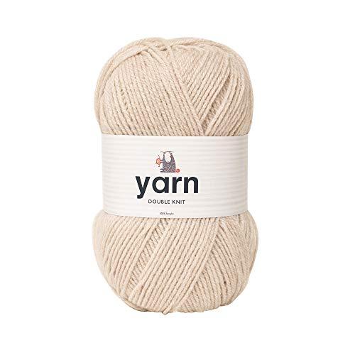 Korbond Double-Knit Yarn - Oatmeal – 100g Ball of Acrylic Wool – Knitting or Crochet –...