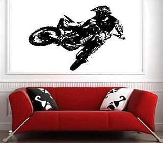 Motocross Dirt Bike Wall Decal Sticker Boys Room Nursery Idea Kid Decor Wall Decal Art Vinyl Sticker S6428