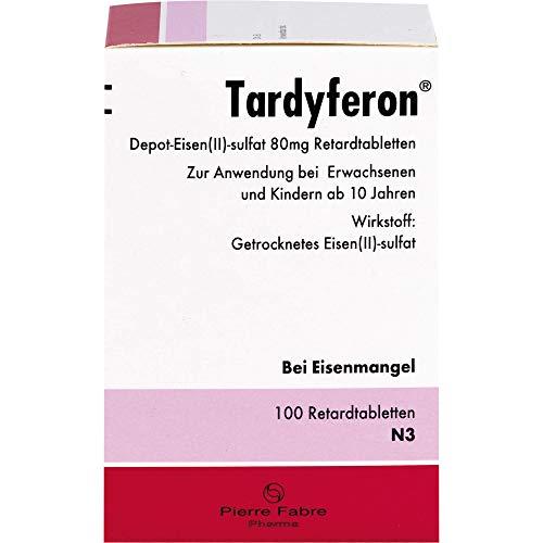 Tardyferon 80 mg Retardtabletten bei Eisenmangel, 100 St. Tabletten