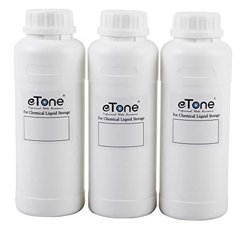 3X 500ml Darkroom Chemical Storage Bottles with Caps Film Photo Developing Processing Equipment(White)