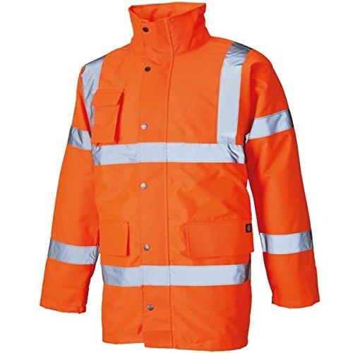 Dickies Parka mit leichtem Futter Warnschutz SA22045, Größe:XXL, Farbe:orange