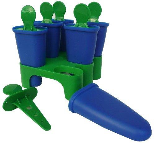 Ikea Chosigt Eis Lutscher Stieleisformen Gefrierbehälter für Eislutscher 6er Set (Grün / Blau)