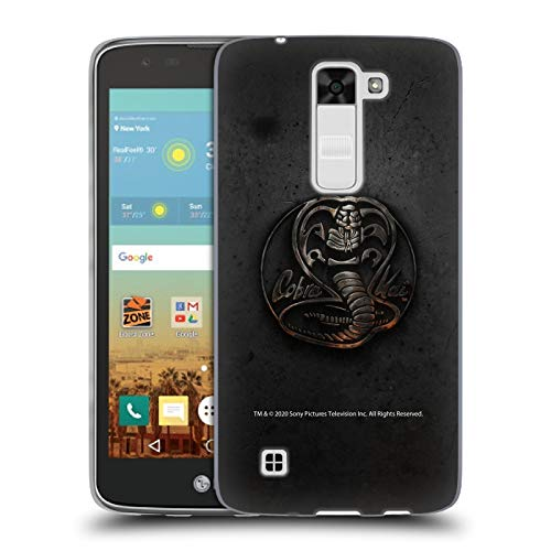 Head Case Designs Officially Licensed Cobra Kai Metal Logo Graphics Soft Gel Case Compatible with LG K7 K330 / Tribute 5