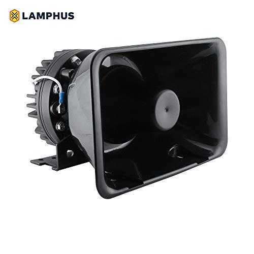 LAMPHUS SoundAlert 100W Police Siren Speaker [120-130dB] [Bull Horn Style] Siren Speaker for Emergency Warning Vehicles Truck UTV ATV Car POV