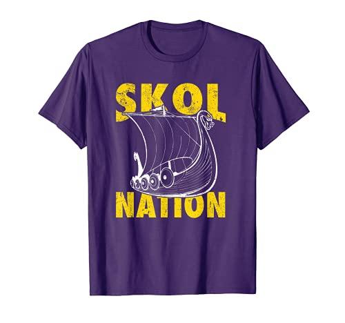 Skol Nation Distressed Viking Ship Shirt and Gift