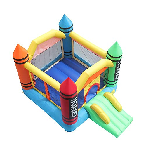 SYLOZ-URG 420D Gruesa de Nylon 800D Oxford Tela de PVC Neto de sujeción de Tela Inflable Kids Play Castillo de casa de la Despedida Castillo Bola Pit Puente Multicolor (3,7 * 2,7 * 2,3 m) URG