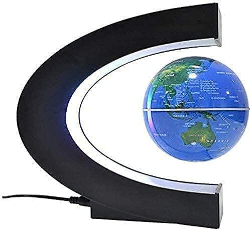 Ornamentos de escritório, globo de levitação magnética Maglev World Map C forma Globo mundial de suspensão magnética com luz LED, melhor aniversário Natal novo