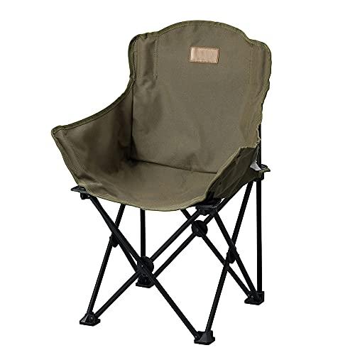 アイリスオーヤマ キャンプ用品 チェア アウトドアチェア ローチェア 子供用 コンパクト収納 深く座れる 丈夫 カーキ CCM-LOW