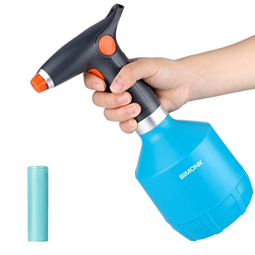 Electric Plant Mister Spray Bottle for House Flower, Indoor Handheld Spritzer with Adjustable Spout, 32 Ounce / 1 Liter Garden Handheld Tiny Auto Plastic Sprayer, for 75% Alcohol, Perfume,Cleaning