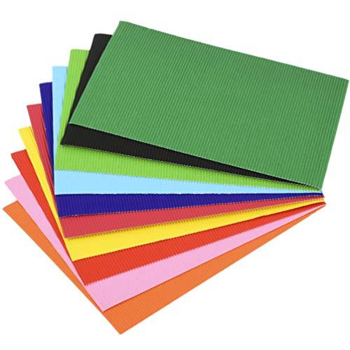 41ed+s2jVsL - Supvox 56 Stücke Diy Wellplatten A4 Bau Papier Farbige Wellpappe für Handwerk Diy Projekte Handwerk Blume Machen Kit