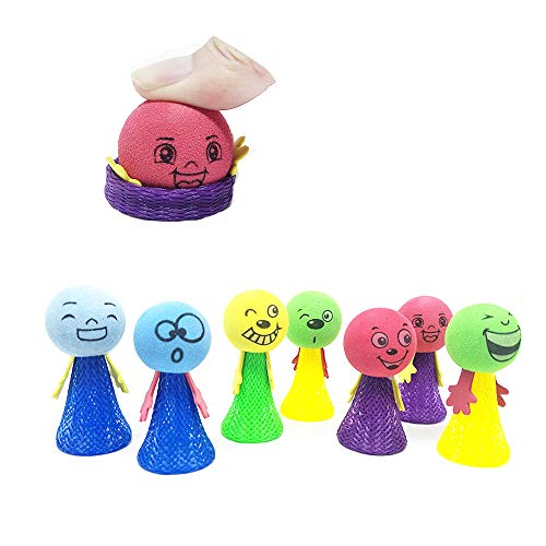 X Hot Popcorn 10 Pcs Jumping Popper Spring Launchers Bouncy Toy for Party Favors