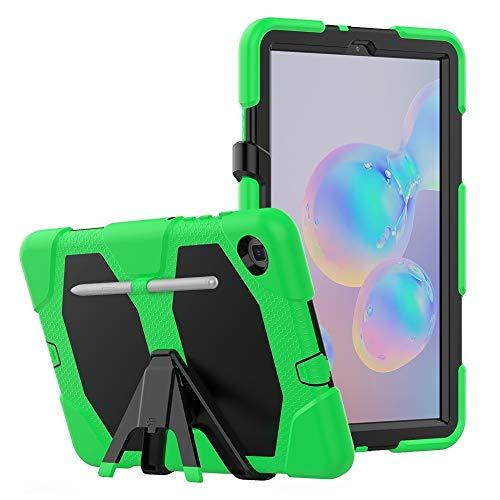 A+Xu Jie For la Caja Protectora de la PC Colorida Silicio Samsung Galaxy Tab S6 Lite P610 a Prueba de Golpes con el Soporte y la Ranura de la Pluma (Color : Green)