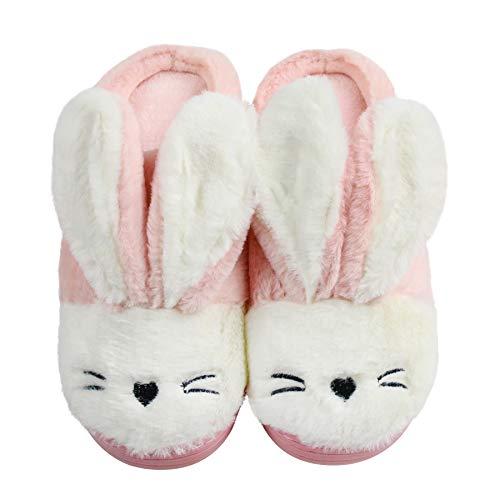 Santiago Cosy Cute Bunny Animal Rabbit Hausschuhe für Frauen Mädchen Memory Foam Sohle Indoor Outdoor Geburtstag