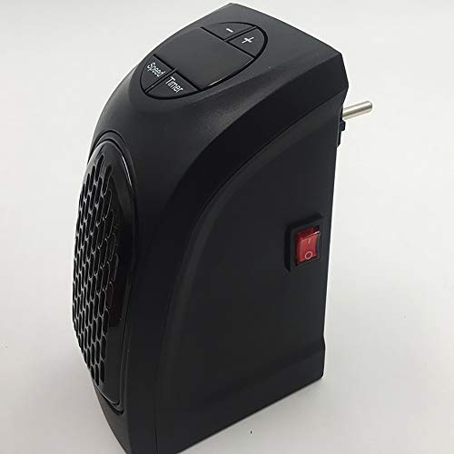 VBARV Portable Electric Heater, Wall Plug Warmer,Two-Speed Wamer Fan,Best Direct Fast Heater, for Travel, Office & Home