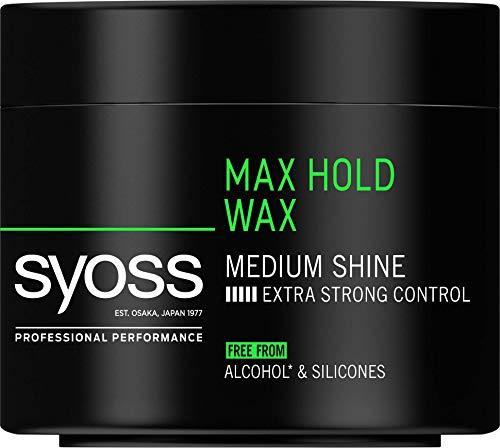 Syoss - Cera Max Hold, 6uds de 150ml (900ml), Fijación ultra fuere y acabado brillante, Sin alcohol ni siliconas, Cabello como recién salido de la peluquería
