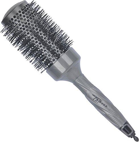 Round Brush by SUPRENT Nano Thermal Ceramic & Ionic Round Brush Barrel Hair Brush, 2 inch, Grey...