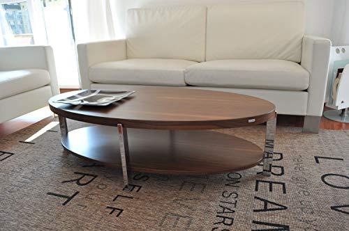 Carl Svensson Design Couchtisch O-111 oval Tisch (Nussbaum-Walnuss)
