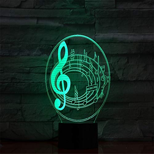 Notes De Musique 7 Couleurs 3D Changement Led Night Lights Usb Visual Table Lampe Chambre Dream Light Cadeaux