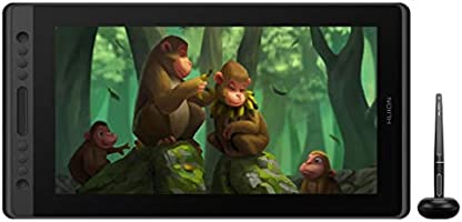 Huion KAMVAS Pro 16 Drawing Tablet Monitor Full-Laminated Pen Display Tilt Battery-Free Stylus with Adjustable Stand-...