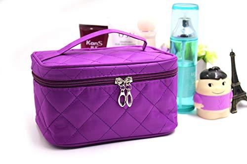 Cosmétique Sac Dames Portable Petit Miroir brodé étanche Sac de Rangement de Lavage 24 * 16 * 14 CM Diamant Petit Violet