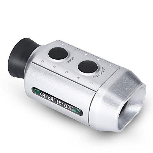 Golf-Entfernungsmesser, Outdoor-Handheld-Monokular-Teleskop-Entfernungsmesser-Entfernungsmesser-Tester Golf Laser (Silber)