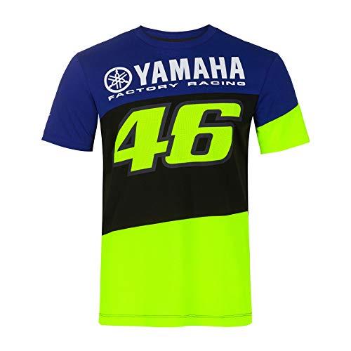 Valentino Rossi VR46 M1 Yamaha T-Shirt Camiseta, Blau, Small 98cm/39in Chest para Hombre