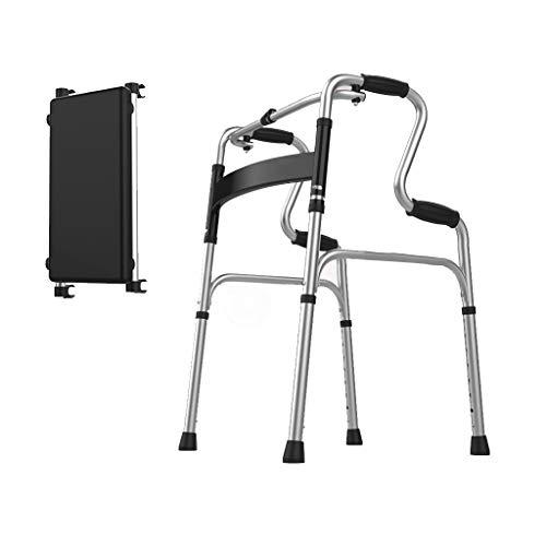 Outdoor Sports Walker, Gehhilfe für Behinderte, Gehhilfe zum Zusammenklappen, leichte Aluminiumlegierung für Behinderte und ältere Menschen