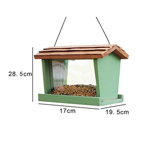 JXXDDQ Mangeoire à Oiseaux en Plein air pour conteneur pour Oiseaux à Nourrir pour Animaux de Compagnie