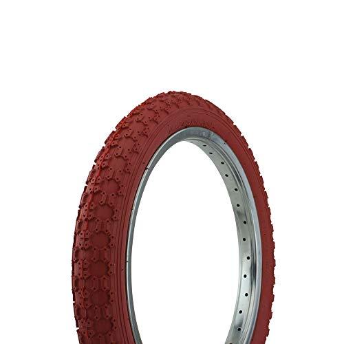 Fenix Cycles Bicycle Tire Wanda 16' x 2.125' P-104A Comp3 Thread. Bike tire, Kids Bike tire, (Red)