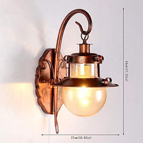 MAONB wandlamp E27 vintage landelijke stijl lamp bedlampje slaapkamer creatieve loft industrie woonkamer gang lamp retro trappen wandlamp