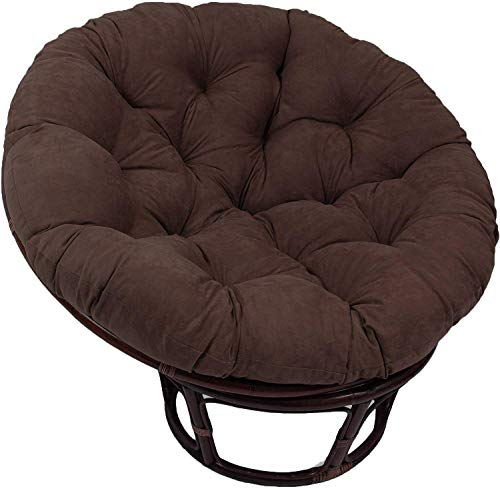 MSTOLL Hanging Hanging Egg Chair Pads removable Papasan Chair Cushion For home decoration 105cm(41inch)-D105cm(41inch) brown