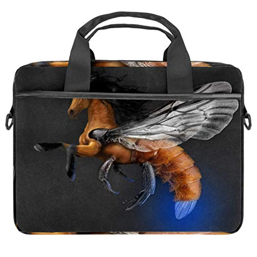 EZIOLY Flyinghorse Bee Body Laptop Shoulder Messenger Bag Crossbody Briefcase Messenger Sleeve for 13 13.3 14 Inch Laptop Notebook Tablet Protect Tote Bag Case