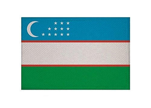 U24 Aufnäher Usbekistan Fahne Flagge Aufbügler Patch 9 x 6 cm