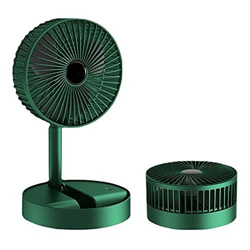 GRTBNH (1 Paquete) Mini Ventilador TelescóPico Plegable, Ventilador Piso Mesa Recargable por USB con DiseñO de 3 Velocidades Viento, Ajuste Altura, Ventilador Silencioso PortáTil para Oficina Casa