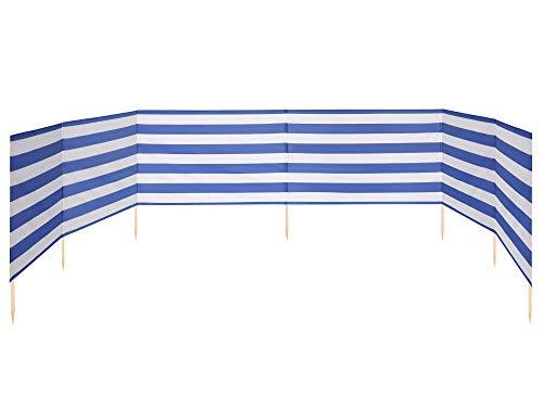 Ladeheid Strand Windschutz Sichtschutz 8 m lang LAEX001 (Streifen)