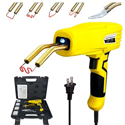 Upgraded Version 100w Hot Stapler, Plastic Welding Machine Car Bumper Repair Kit, Plier, knife,Flat/Outside Corner/Inside Corner/Wave Staples, Welding Repairing Machine Welder Gun Repair