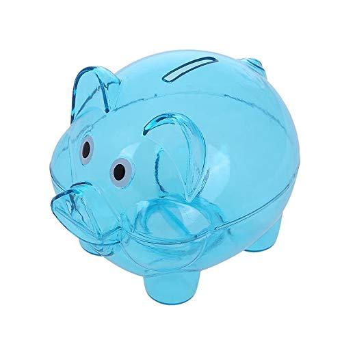WMFL Caja de Ahorro de Monedas guarras,Cute Coins Cents Cash Saving Box Plastic Pig Money Box Kids Fun Regalo