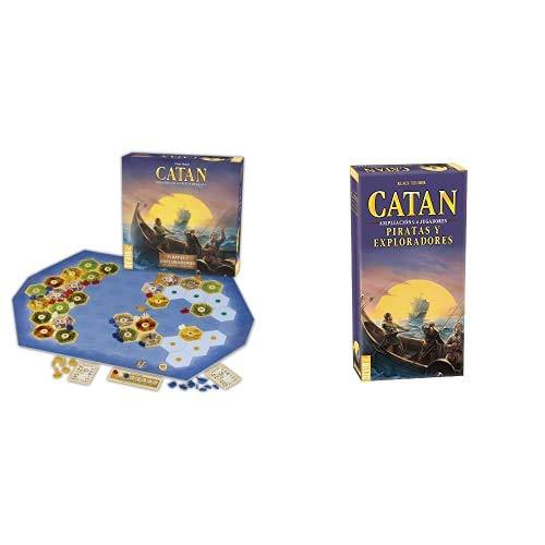 CATAN Expansión Piratas y Exploradores Juego de Mesa, Multicolor (BGPIREX) + Devir, Piratas y Exploradores, Juego de Mesa (Bgpir56) Ampliación para 5 y 6 Jugadores
