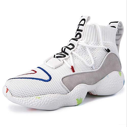 RZJF Paar High-Top Sneakers, Casual Platte Vulcanized Schoenen Hip-Hop Sokken Tide Schoenen voor het spelen Basketbal Hardlopen Uitgaan