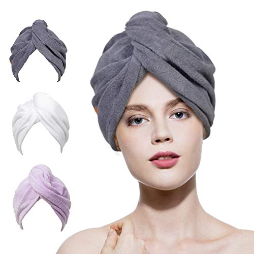 Microfiber Hair Towel Wrap 3 Pac...